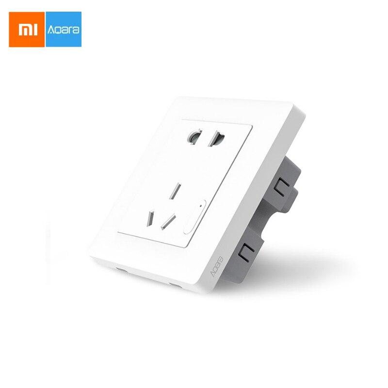 imágenes para Xiaomi Aqara Domótica ZiGBee Control de Luz Inteligente Toma de Interruptor de Pared Enchufe CN A Través de Smartphone APP Remoto Inalámbrico 10A/2500 W