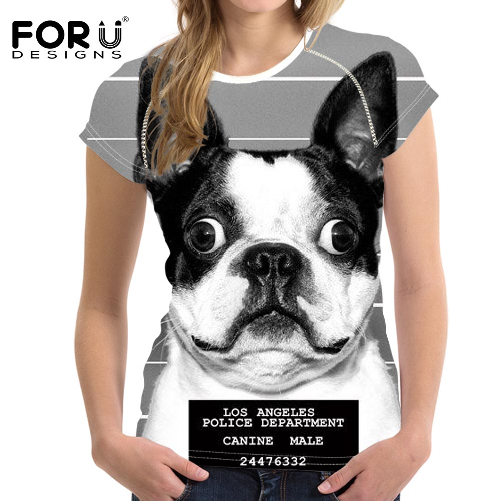 FORUDESIGNS Super Cute Chihuahua Camisetas Mujer Summer Tops - Ropa de mujer - foto 5