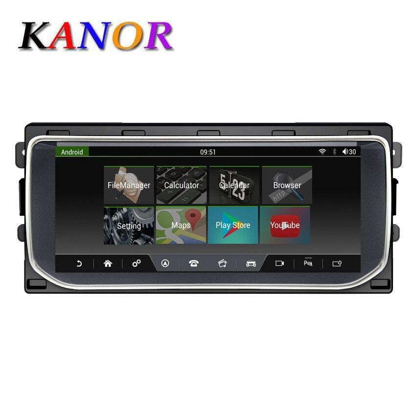 """Navigation multimédia KANOR GPS pour Ranger Rover Sport Bluetooth Android 7.1 Radio tableau de bord lecteur DVD 10.25 """"2013-2016"""