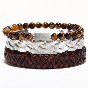 Bracelet viking torsadé titane 7