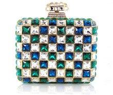 YU16-3 Kristall Abendtasche Clutch Pfau diamant pochette soiree Frauen abend handtasche hochzeit clutch tasche