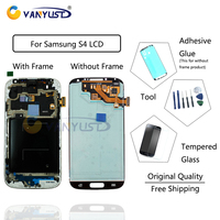 100 Original AMOLED LCD Screen Touch Digitizer Assembly With Frame For Samsung Galaxy S4 I9500 I9505