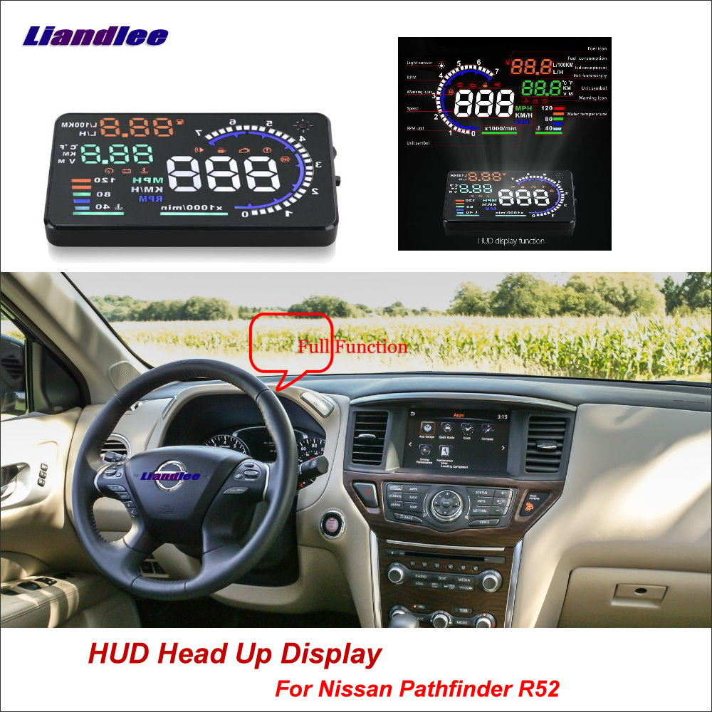 Liandlee Car HUD Head Up Display For Nissan Pathfinder R52 2013 2018 Safe Driving Screen Full