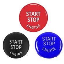 רכב מנוע להתחיל כפתור להחליף כיסוי להפסיק מתג אביזרי מפתח תפאורה עבור BMW X1 X5 E70 X6 E71 Z4 E89 3 5 סדרת E90 E91 E60