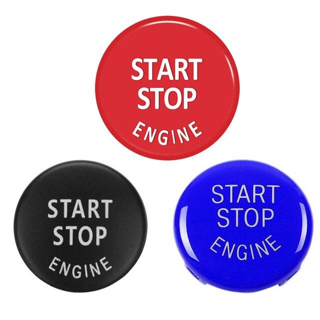 Botón de arranque del motor del coche reemplazar la cubierta del interruptor de parada accesorios, decoración de llave para BMW X1 X5 E70 X6 E71 Z4 E89 3 5 Series E90 E91 E60
