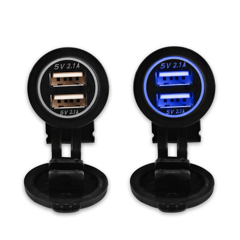 12V երկկողմանի մոտոցիկլ USB լիցքավորիչ - Ավտոմեքենաների էլեկտրոնիկա - Լուսանկար 4