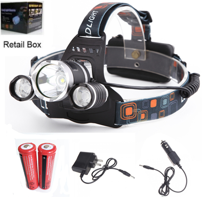 5000LM LED CREE XML T6  Rechargeable Headlights Headlamp Spotlight For Hunting Camping Bicycle bicicletas  cycling Light 18650 налобный фонарь headlamps 2000 xml t6 cree 18650 led headlamp