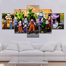 Canvas Pictures Home Decor 5 Pieces Dragon Ball Animation Paintings Wall Art Creative Prints Poster Bedroom Modular Living Room