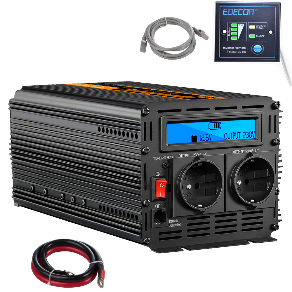 Power inverter 2000 w/4000 w DC 12 V zu AC 220 V modifizierte sinus welle solar inverter