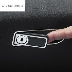 Stylizacja wnętrza samochodu zestaw narzędzi uchwyt naklejki dekoracji wykończenia osłona ramy cekiny dla Mercedes Benz C klasa W205 GLC samochodowe akcesoria w Naklejki samochodowe od Samochody i motocykle na