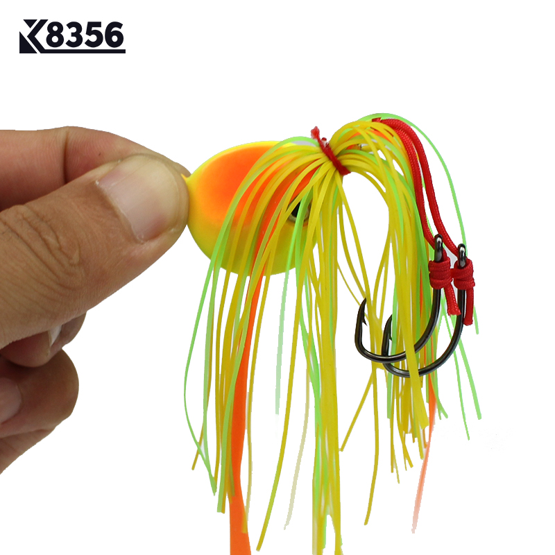 K8356 40g Lead Head Fishing Lures jigging Bait 3D Fish Eye Artificial Fish Bait Deep Sea Fishing Tackle Accessories Green