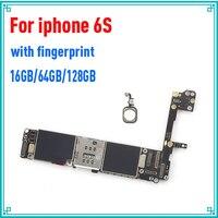 Золото Бесплатная iCloud для iphone 6S материнская плата, 16 ГБ 64 ГБ 128 ГБ Оригинал открыл для iphone 6S платы с Touch ID, бесплатная доставка
