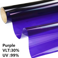 HOHOFILM1.52x10m Purple Wholesale 1 Roll Decorative Window Film Purple GLass Window Sticker Heat Proof UV Proof 60''x33ft