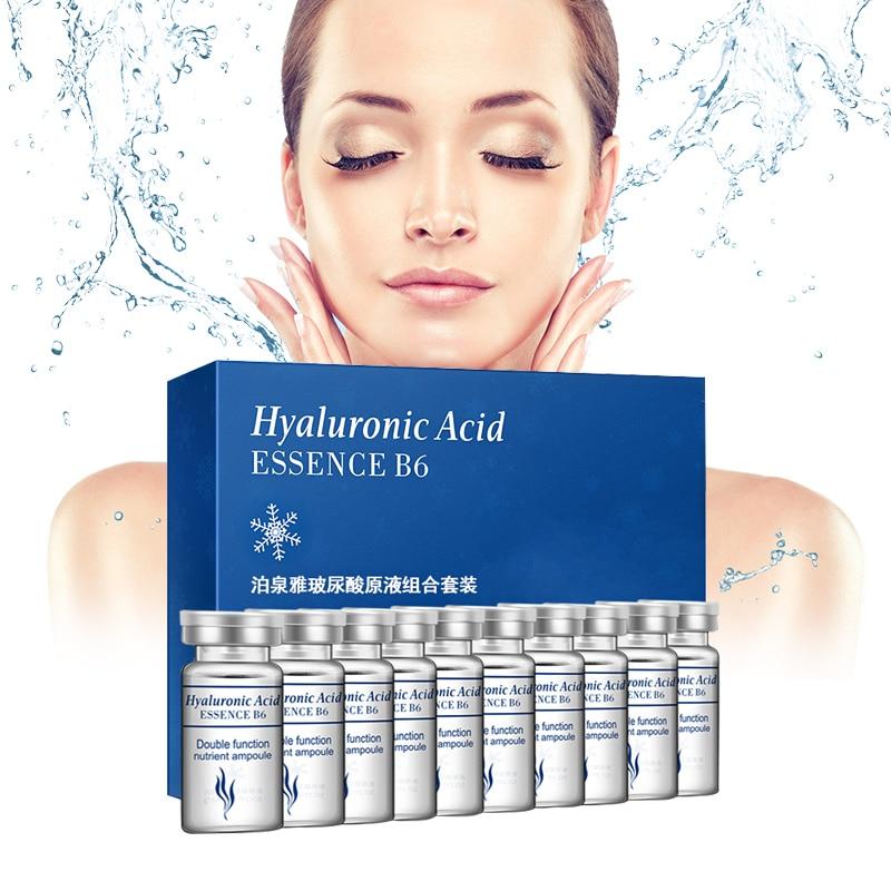 BIOAQUA 10pcs/lot Serum Moisturizing Hyaluronic Acid Vitamins Facial Moisturizing Anti Wrinkle Aging Collagen Skin Care Essence