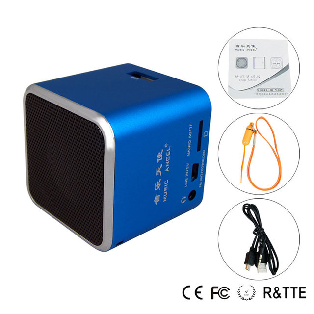New Products Original Music Angel for Smart phone speaker support U-disk high Quality for computer sound equipment MD07U blue