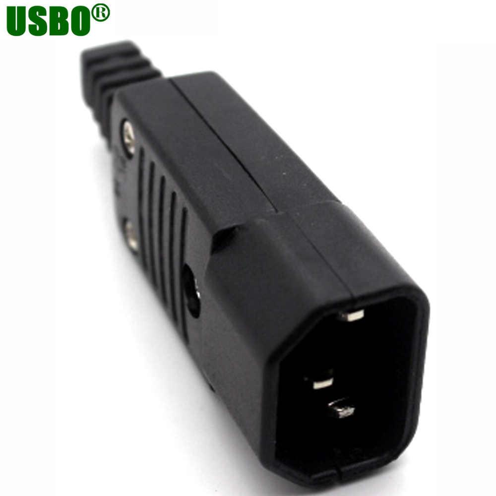 250 v 10a IEC320 C13 C14 C15 AC tomada PDU UPS com fio linha cabo montar instalar Painel Receptáculo elétrico tomada de CORRENTE ALTERNADA