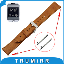 22mm Real Leather-based Watch Band Fast Launch Strap for Samsung Galaxy Gear 2 R380 Neo R381 Dwell R382 Belt Males Ladies Bracelet