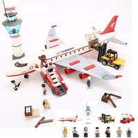 KAZI Large Passenger Aircraft DIY Model Building Block Sets 856pcs Bricks Collection Gifts Toys For Children