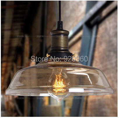 American Industrial Vintage Pendant Light Cafe Creative Glass Droplight Bar Lighting Clothing Store Lamps Dia 25cm - DGY Indoor store