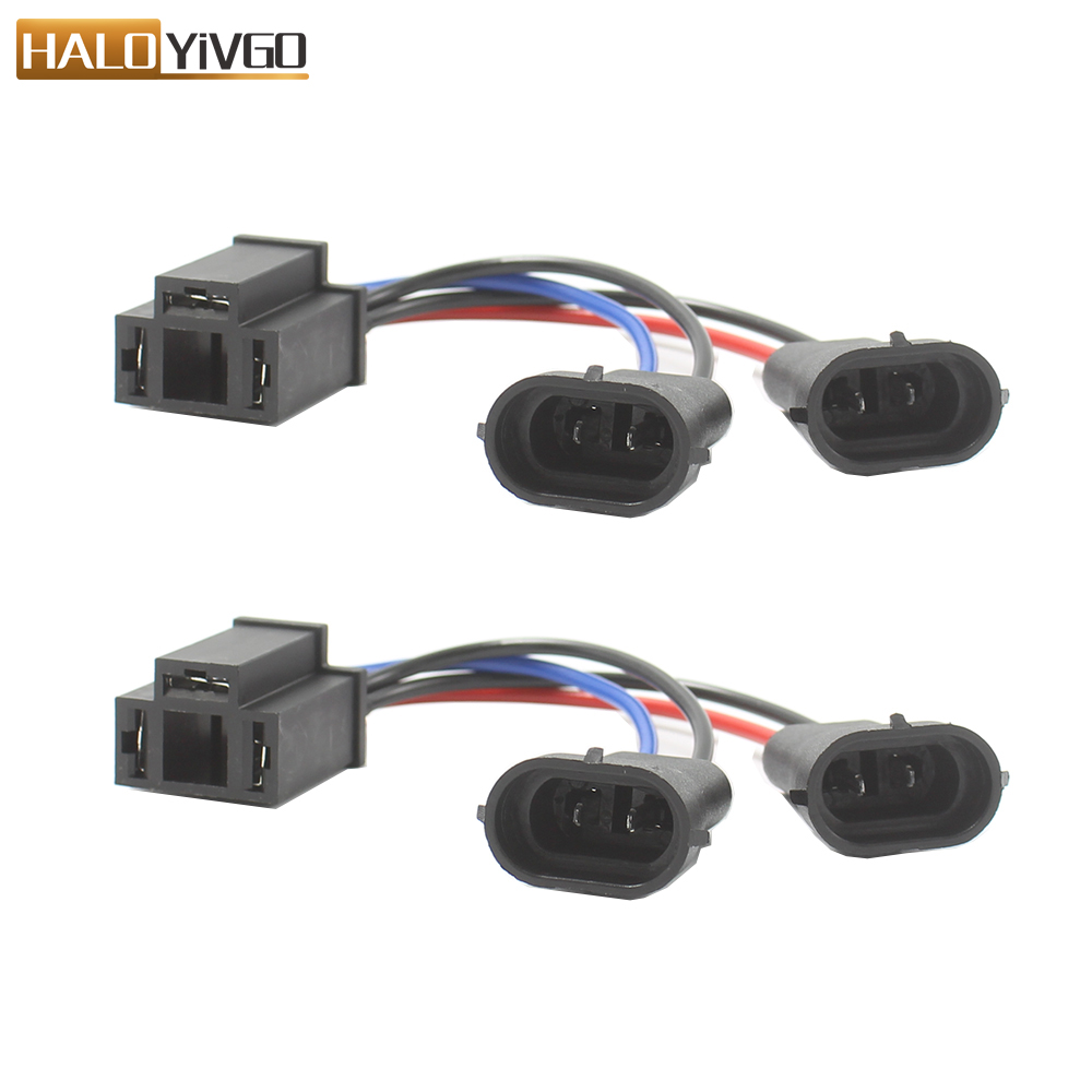 H4 to H9//H11 Dual Beam Headlight Splitter Harness Adapter for Road Glide
