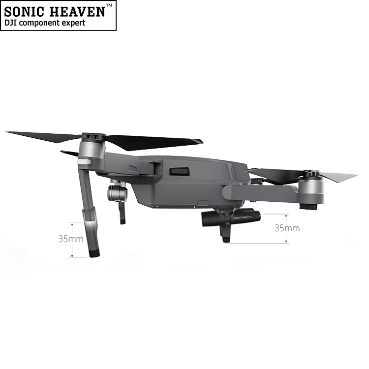 PGYTECH Landing Skid Extensions Heightened Landing Gear for DJI Mavic Pro w/ LED Hand Lamp Night Quadcopter RC Toys Accesorries