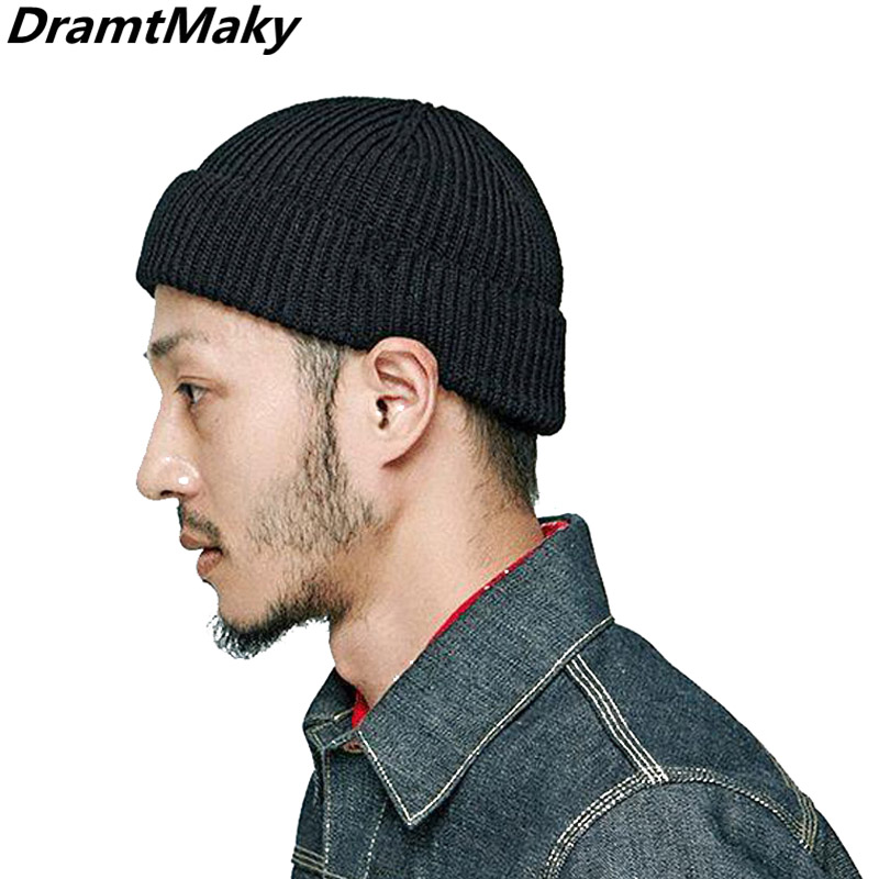 New Men's Autumn Winter Casual Short Hats For Men   Beanie   Hat Warm Cap Knitted Caps Male Knitted   Skullies     Beanie   Hat Wholesale