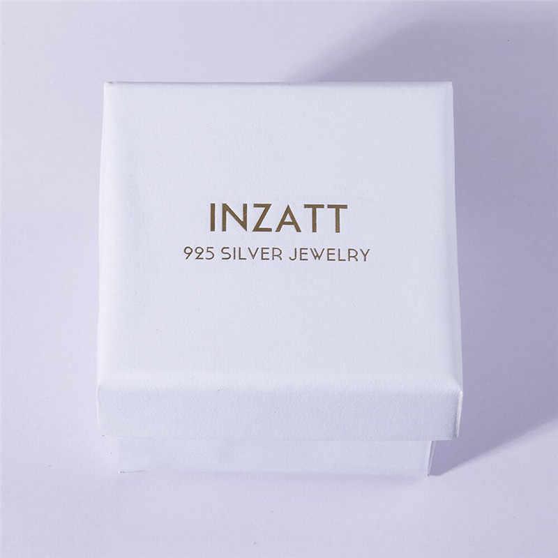 INZATT Asimetri Lucu Kartun Kristal Kelinci Lobak Enamel Stud Earrings Untuk Wanita Hadiah Ulang Tahun Partai Fine Jewelry 925 Perak