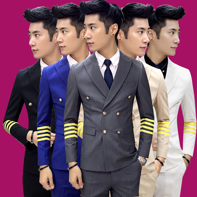 free shipping latest coat pant designs mens casual wedding suit slim double breasted 3 piece set KTV Trendy Hotel work clothes