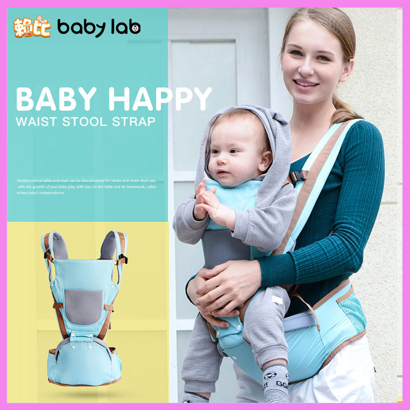 Babylab 3 In 1 Baby Carry Harness Ergonomic Newborn Baby Backpack Carrier Holding Baby Waist Stool Hip Seat Kangaroo Baby Sling