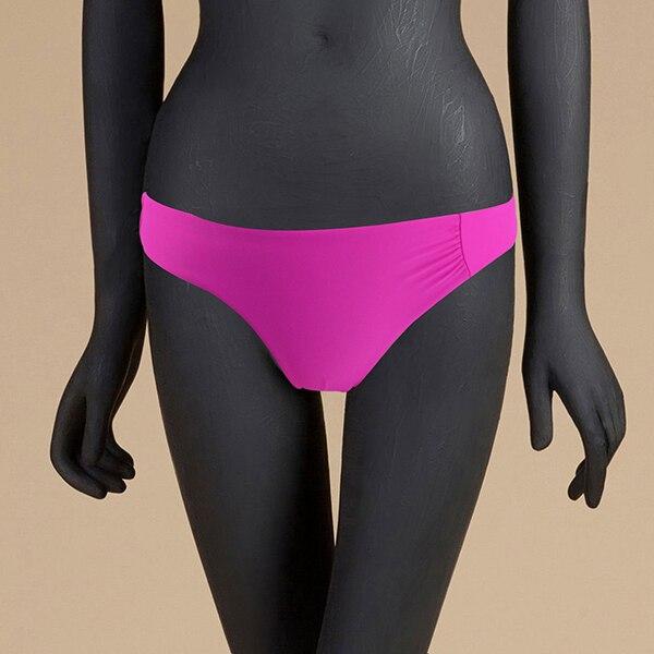 M& M 12 цветов, Раздельный купальник из двух частей, сексуальный купальник с низкой талией, женские одноцветные плавки, бразильские Плавки бикини - Цвет: Лаванда