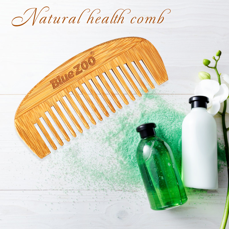 Размер: 12*5,2 см натуральный бамбук деревянная щетка для волос Массажная головы анти-статический Для мужчин борода расческа для волос инстру...