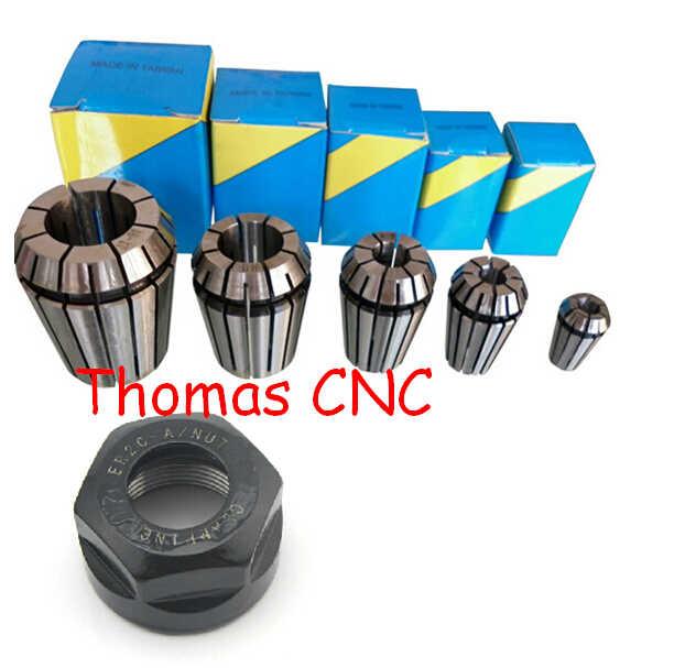Livraison Gratuite, 5 pièces er20 pince ensemble comprenant 3, 3.175, 4, 6, 8mm + 1 pièces ER20 Un écrou pour CNC moteur de broche