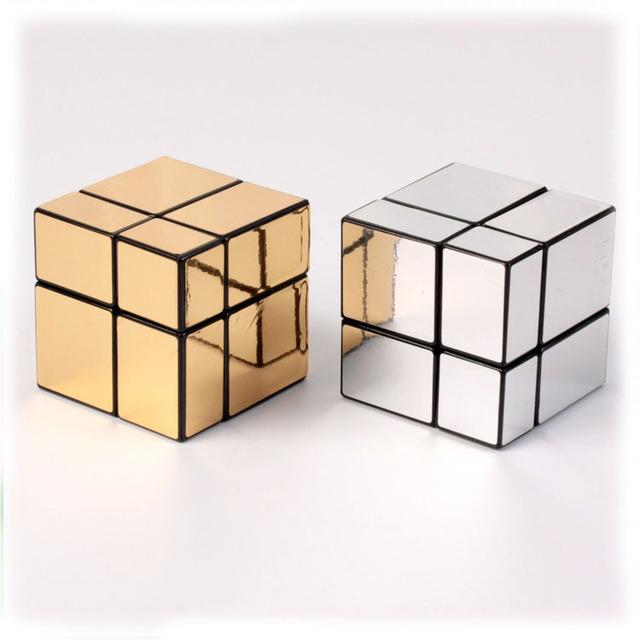 Mini Mirror Cube 2x2x2 Etiqueta de Bolsillo Mágico Cubo Rompecabezas Bloques Cubo Reto Educativo Especial Regalos de Los Niños juguetes 1291