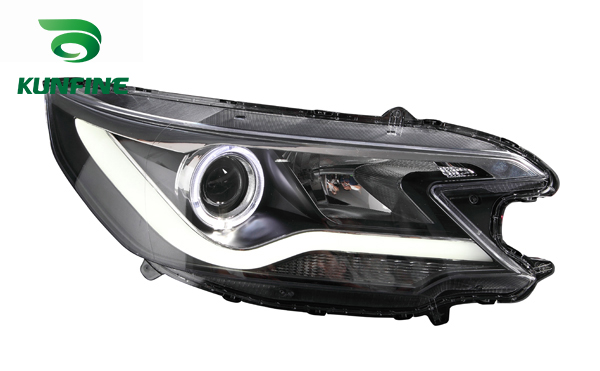 Pair Of Car Headlight Assembly For HONDA CRV 2012-UP Tuning Headlight Lamp Parts with Daytime Running Light Angel Eyes Bi Xenon special car trunk mats for toyota all models corolla camry rav4 auris prius yalis avensis 2014 accessories car styling auto
