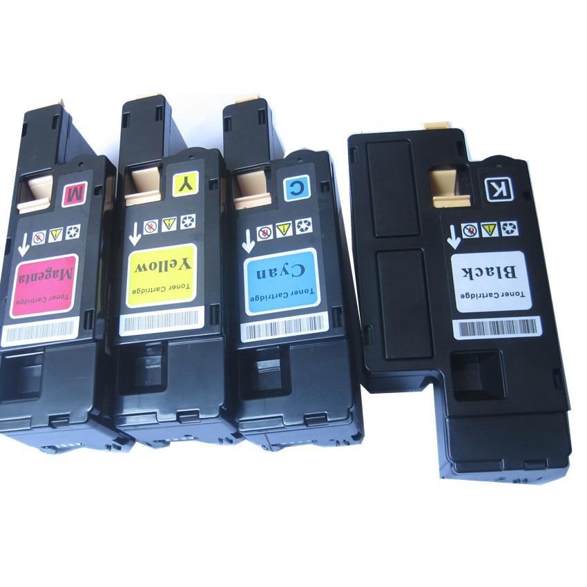 4 Pcs Compatible Color Toner Cartridge For Dell 1250c 1350cnw 1355cn 1355cnw C1760nw C1765nf Printer