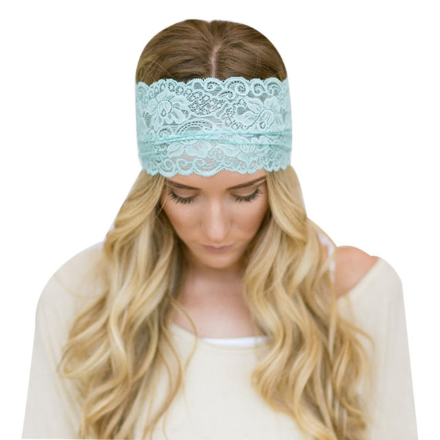 Women's Floral Lace Wide Yoga Headband