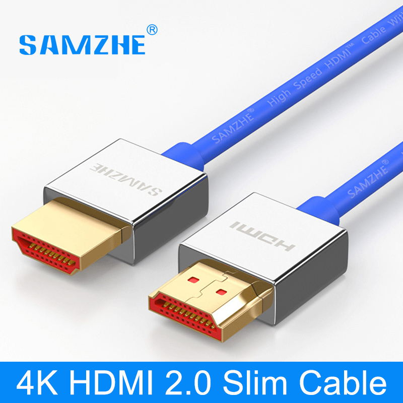 SAMZHE HDMI to HDMI Cable,4K HDMI2.0 Cable Slim Support 3D Ethernet for HDTV Computer Laptop PS4 0.5m 1m 1.5m 2m 3m 5m gold plated nylon braided hdmi cable hdmi 2 0 4k x 2k ethernet support video 4k 2160p hd 1080p 3d 1 5m 3m 5m 10m 15m 20m