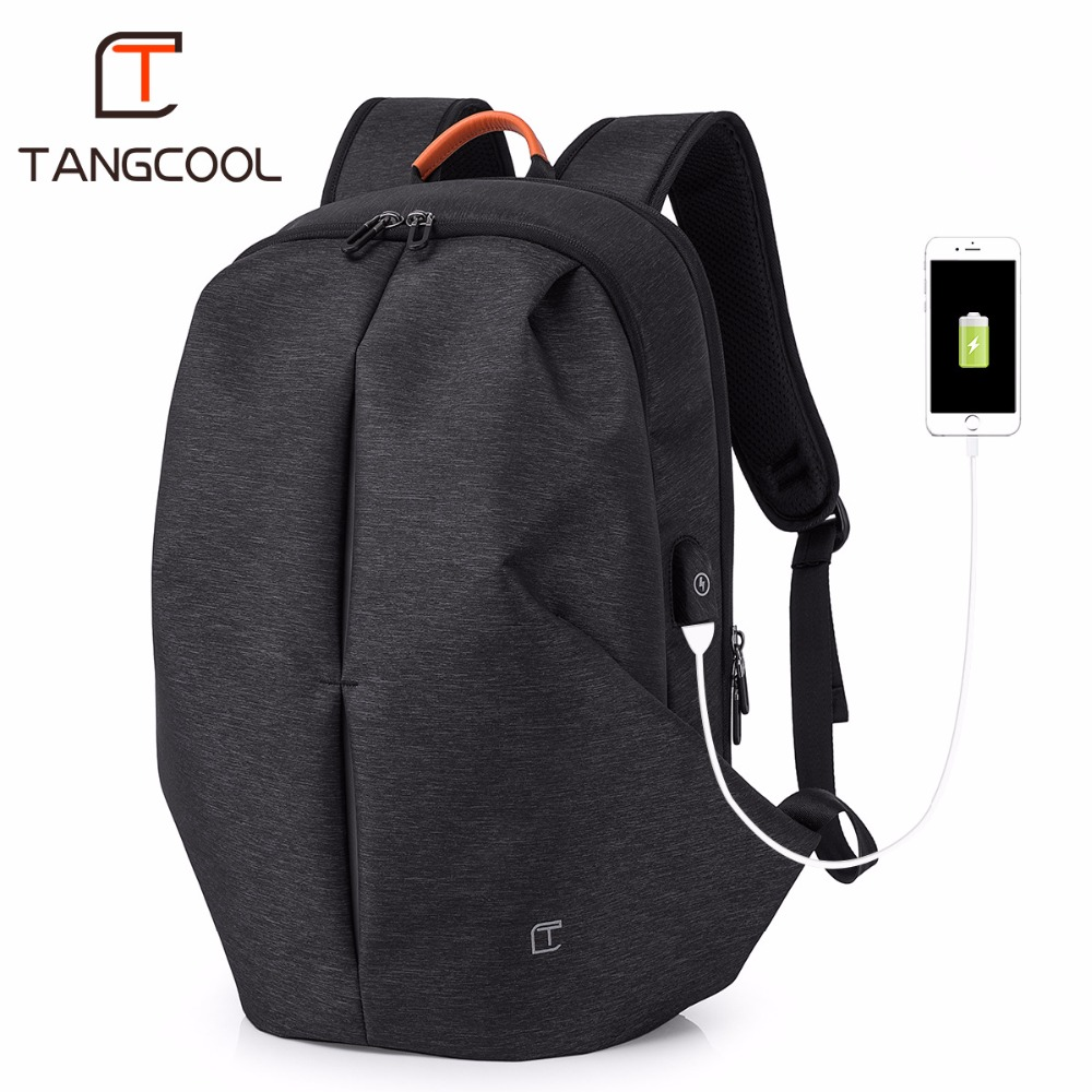 "Tangcool Brand Fashion Design Men Waterproof Backpacks Travel School  Backpack For 15.6"" Laptop Backpack Anti-theft Luggage Bags"