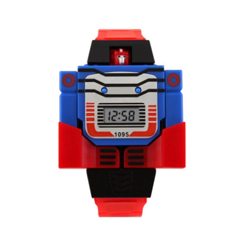 Электронные часы-игрушка персонаж фильма цифровой показ детские подарки творческие фигурки героев фильма Коллекция Модель игрушки - Цвет: Red belt