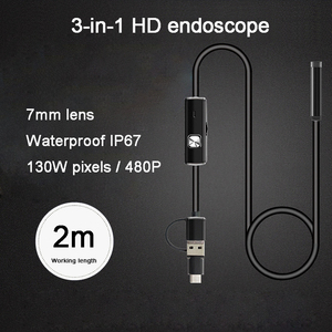 Image 3 - 8mm 3 in 1 Endoscope Camera USB Mini Camcorders Waterproof 6 LED Borescope Inspection Cameras Endoscope for Android Smartphone