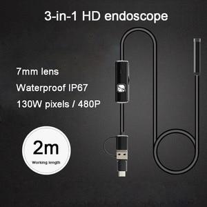 Image 3 - Mini caméscope USB étanche, 8mm 3 en 1, 6 LED caméras dinspection Endoscope, pour Smartphone, Android, 8mm