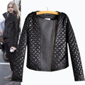 New Fashion Quilted Jackets Women Cool Patchwork Black Argyle Plaid Padded Coats Parka Chaquetas mujer