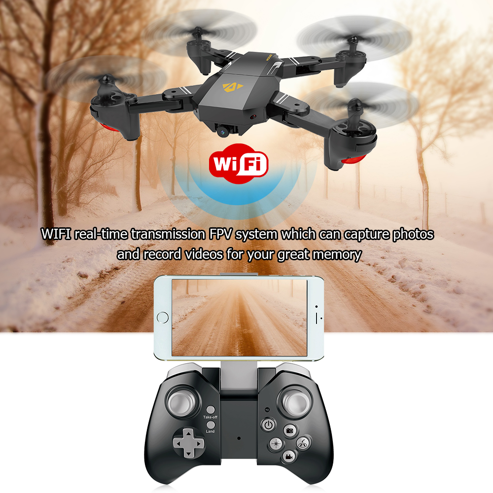 for VISUO XS809HW Wifi FPV 2.0MP 720P 120 FOV Wide Angle HD Camera Drone 2.4G Selfie Drone Height Hold RC Quadcopter Dron RTF (12)