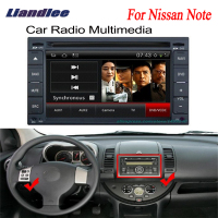 Liandlee 2 din Car Android GPS Navi Navigation For Nissan Note 2005~2012 Maps Radio CD DVD Player Audio Video Stereo OBD2 TV