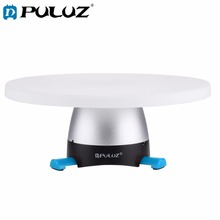 PULUZ Elektronische 360 Graden Rotatie Panoramisch Statiefkop (Blauw) + Ronde Lade met Control Afstandsbediening voor Smartphones, GoPro, DSLR