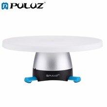 Электронная панорамная головка штатива PULUZ (синяя) с вращением на 360 градусов + Круглый лоток с пультом дистанционного управления для смартфонов, GoPro, DSLR