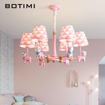 Fantastisch BOTIMI LED Kronleuchter Für Kinderzimmer Kinder Glanz Mädchen Lüster Rosa  Kronleuchter Licht Blau Hängende Lichter Jungen