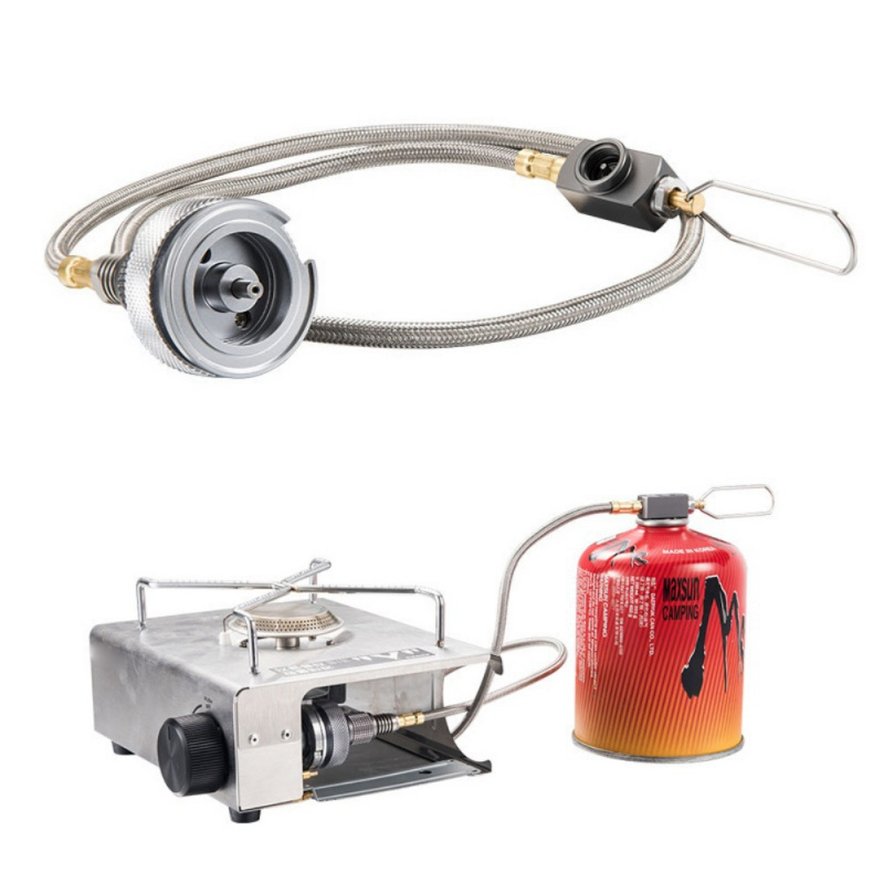Outdoor Camping Gas Stove Valve Adapter Propane Refill Gas Tank Adapter Burn-JT