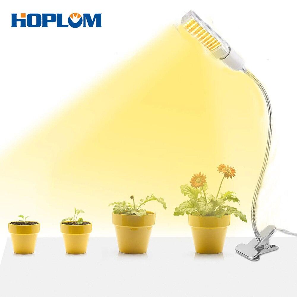 E26/E27 LED Grow Lamp 110V 220V SMD2835 25W Full SpectrumGrow Light with Lamp Holder for Succulents, Seedlings, Seed Starting