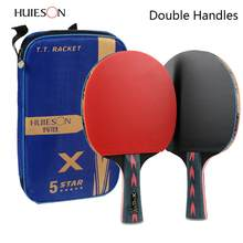 2pcs Upgraded 5 Star Carbon Table Tennis Racket Set Lightweight Powerful Ping Pong Paddle Bat with Good Control(China)